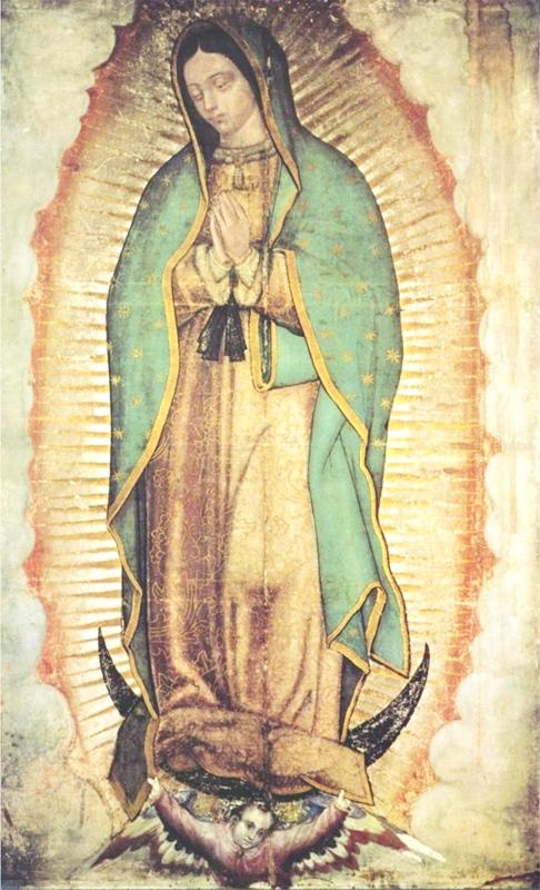Reprodução da imagem original de Nossa Senhora de Guadalupe