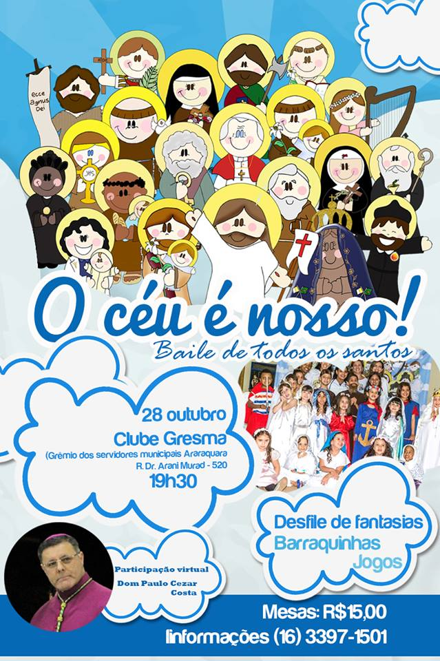 Cartaz do Bailinho dos Santos - Comunidade Beatitudes 2017